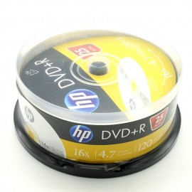 image of 25Pcs Official HP DVD+R 16X 4.7GB 120Min With Box