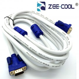 image of Official Zee-Cool 3M 15 Pin Male To Male VGA Monitor Connection Cable