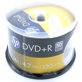 image of Official HP DVD+R 4.7Gb 120Min 1~16X 50pcs Pack With Box