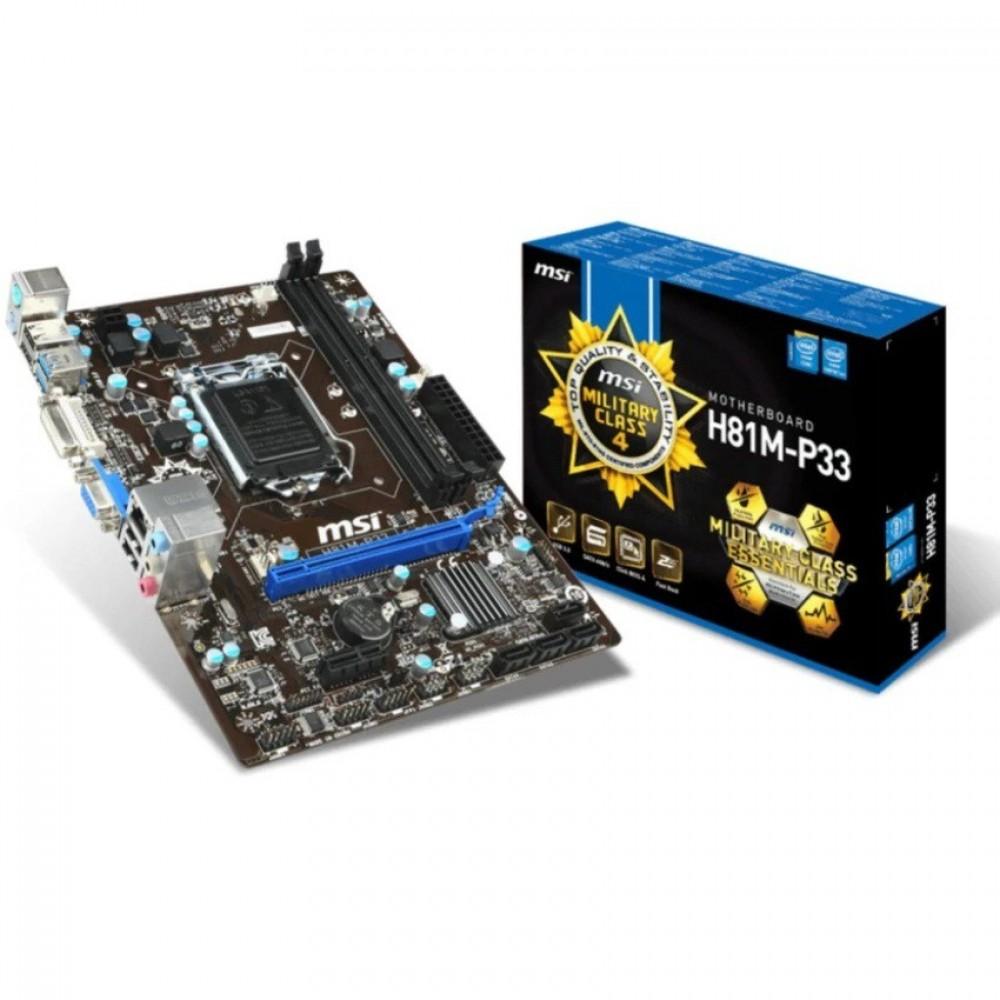 MSI H81M-P33 Motherboard Supports 4th Gen Intel® Core LGA 1150 socket