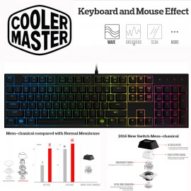 image of Official Cooler Master MasterKeys Lite L Switch Mem-chanical Keyboard RGB LightingOfficial Cooler Master MasterKeys Lite L Switch Mem-chanical Keyboard (F2-3)
