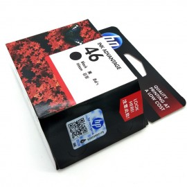 image of Official HP 46 Black Ink Cartridge (CZ637AA)