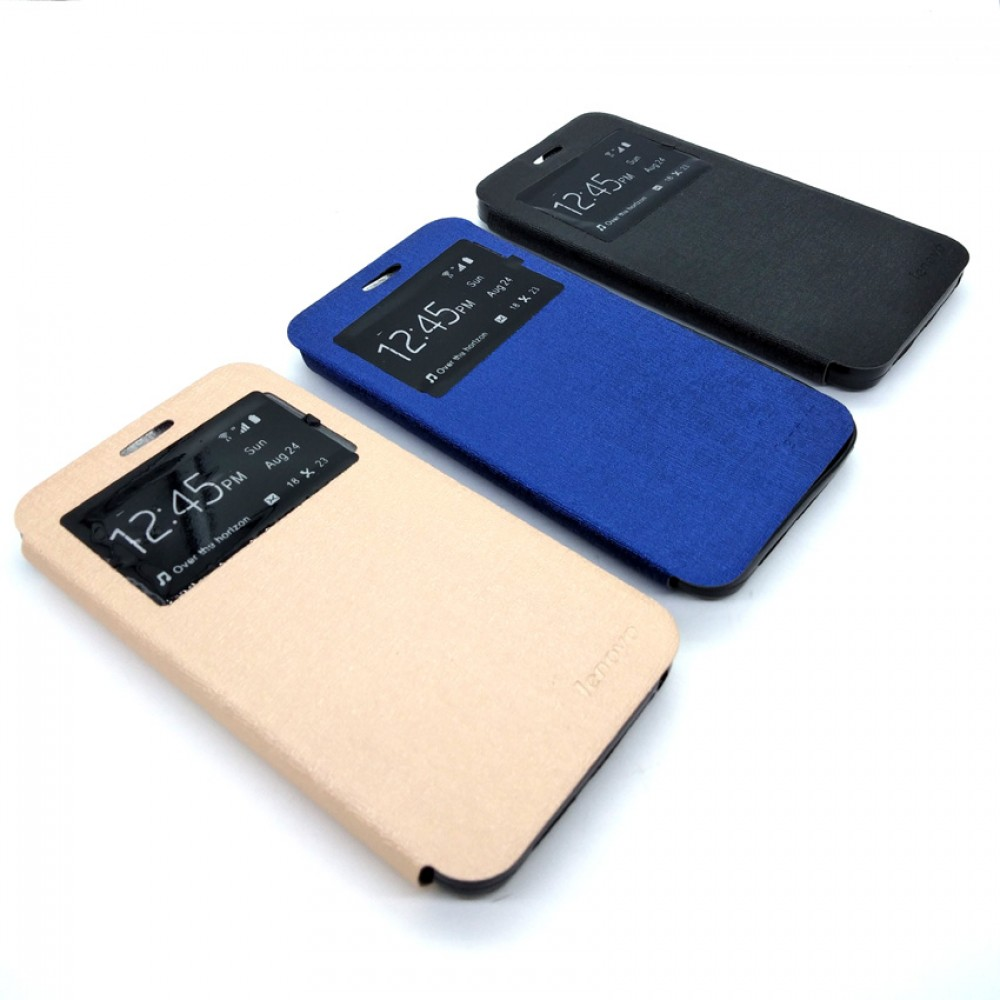 Lenovo Vibe C A2020 Plus A2020a40 Leather Flip Cover Case White