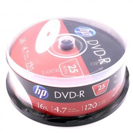 image of 25Pcs Official HP DVD-R 16X 4.7GB 120Min With Box
