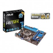 image of Official Asus H61M-K Socket LGA1155 Mainboard with best UEFI BIOS support