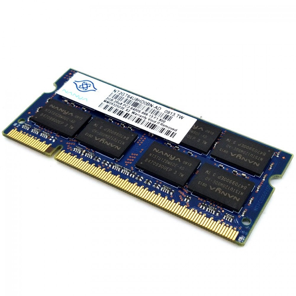 100 Working Nanya 2gb Ddr2 800mhz Laptop Sodimm Ram Without Packing Box Memory So Dimm
