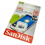 image of Offcial SanDisk Ultra 16GB Class 10 Micro Sd Memory Card 48MB/S