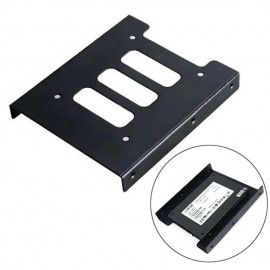 image of 2.5 To 3.5 Hard Disk Drive Metal Black Mounting Bracket