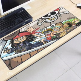 image of One Piece OP23 80 x 30 x 0.2cm Gaming Mat Non-slip Anti Fray Stitching Mouse Pad