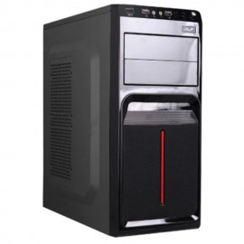 image of AVF Classique Series ACCS560-BR (Red) ATX Casing with 500W Power Supply