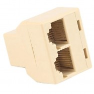 image of Protable Ethernet Network Cable Connector Adapter RJ45 CAT5 6 Splitter 1 to 2