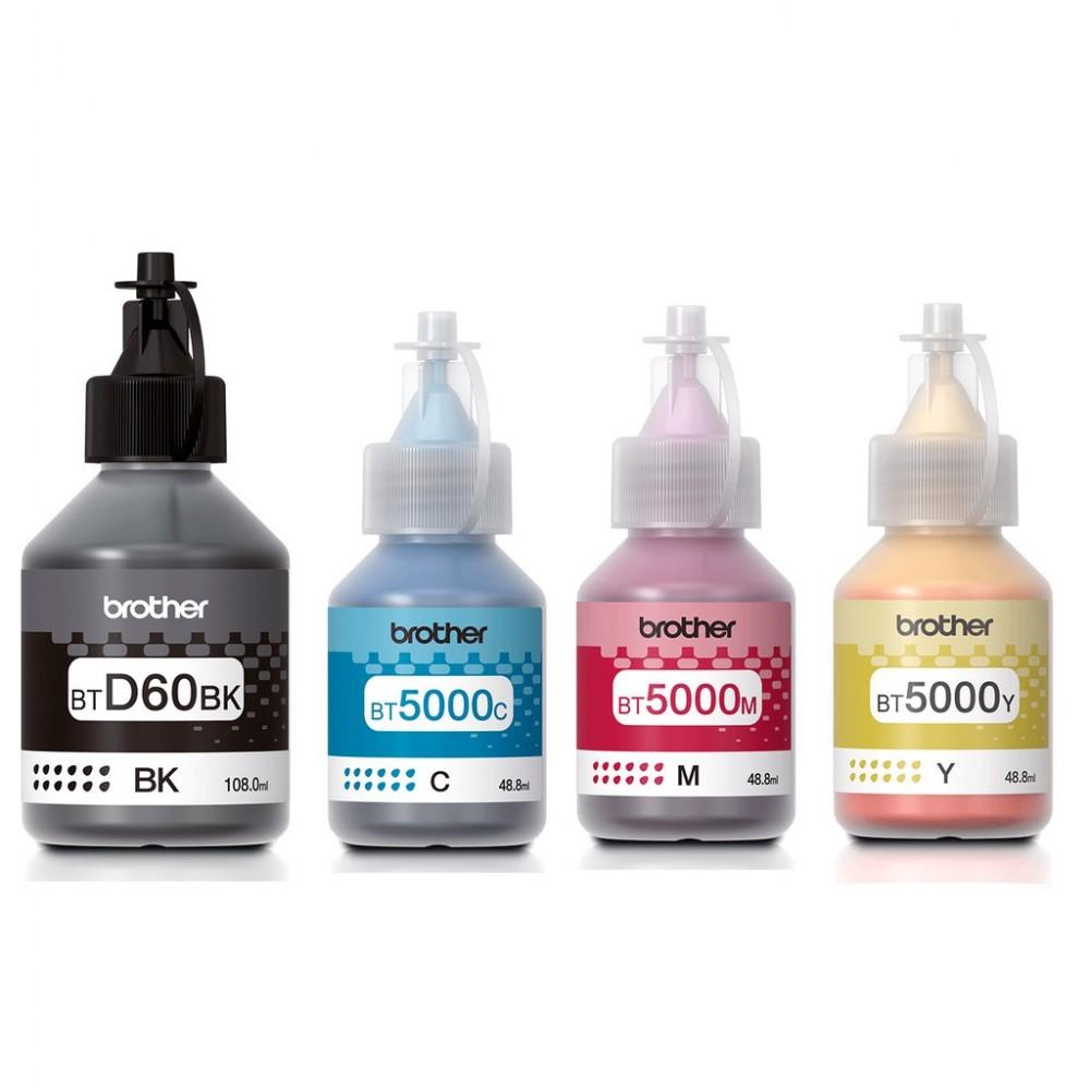 Official Brother High Yield Ink Bottle BTD60BK / BT5000C / BT5000M / BT5000Y