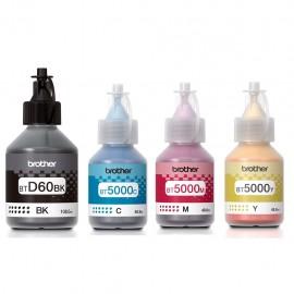 image of Official Brother High Yield Ink Bottle BTD60BK / BT5000C / BT5000M / BT5000Y