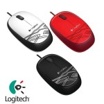 Official Logitech M105 Usb Corded Optical Mouse, ambidextrous comfort