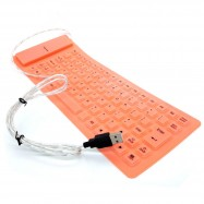 image of 85 Keys USB Silicone Rubber Flexible Foldable Keyboard For Laptop Notebook PC