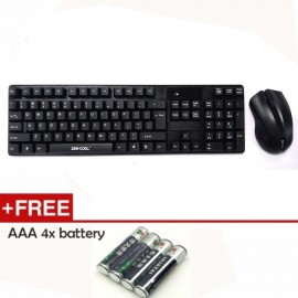 image of Official Zee-Cool Zc-wkm8 Waterproof Wireless Keyboard & Mouse Combo Set
