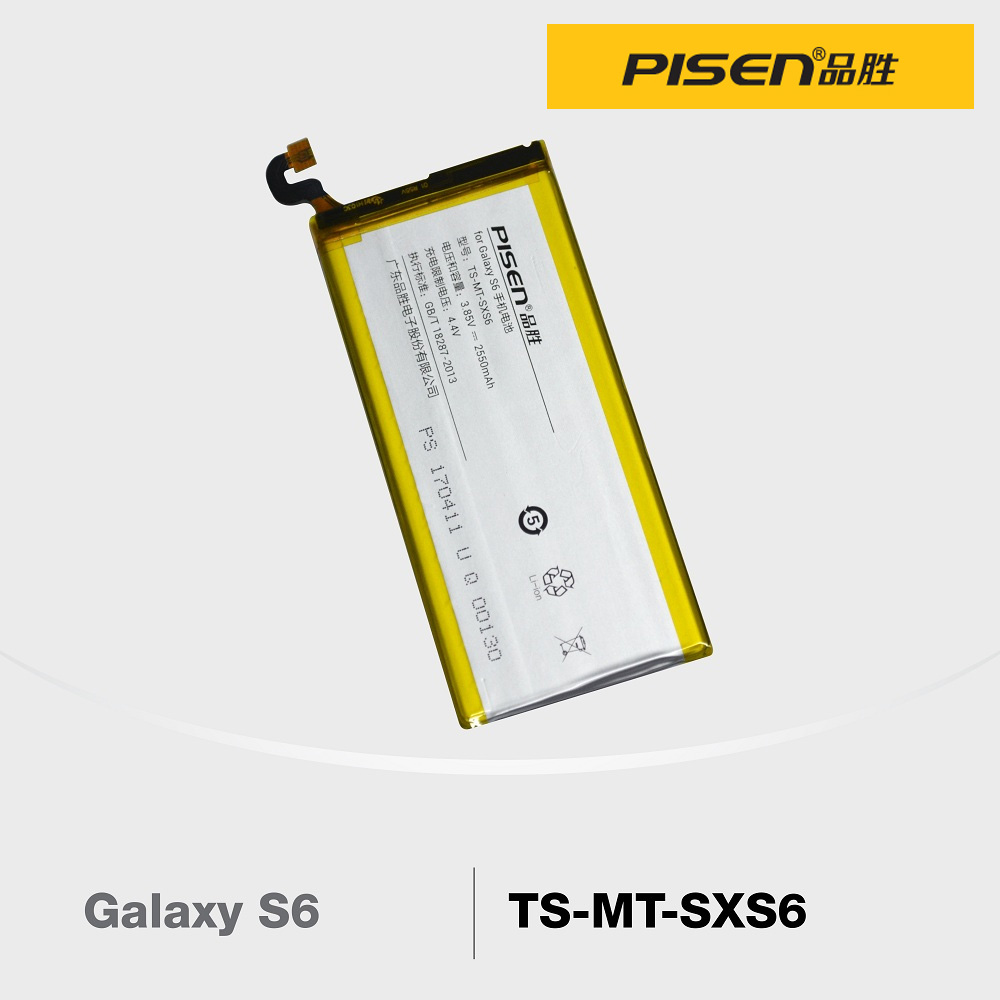 Official Pisen Smart Phone Battery For Samsung Galaxy S6  (F2-2-10)