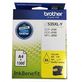 image of Brother LC-535XL-Y Yellow Ink Cartridge For DCP-J100 / DCP-J105 / MFC-J200