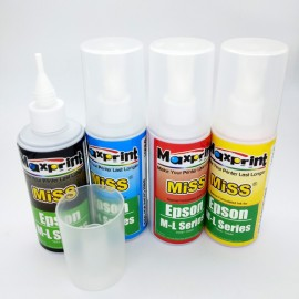image of 4Pcs Official Maxprint 100ML Refill Ink For Epson M & L All Series