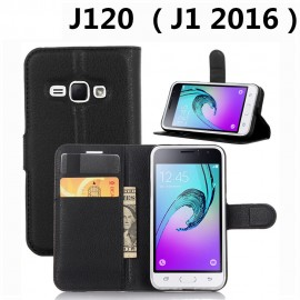 image of Samsung Galaxy J120 / J1 2016 / J1 16  Wallet Leather Flip Cover Case