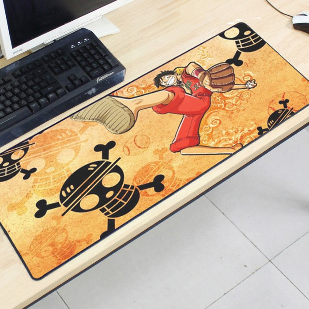 One Piece OP30 80 x 30 x 0.2cm Gaming Mat Non-slip Anti Fray Stitching Mouse Pad