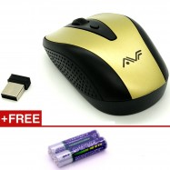image of Official Avf AM-2G 2.4Ghz Wireless Optical Mouse With On/Off Button