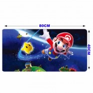 image of 80 x 40 x 0.2cm Gaming Mat Non-slip Anti Fray Stitching Beautiful Mouse Pad