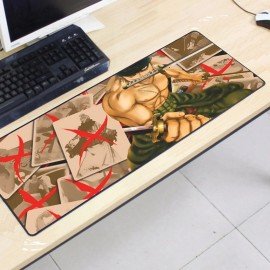 image of One Piece OP71 80 x 30 x 0.2cm Gaming Mat Non-slip Anti Fray Stitching Mouse Pad