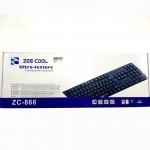 Zee-Cool Zc-866 Ultra- Texture Professional USB Keyboard
