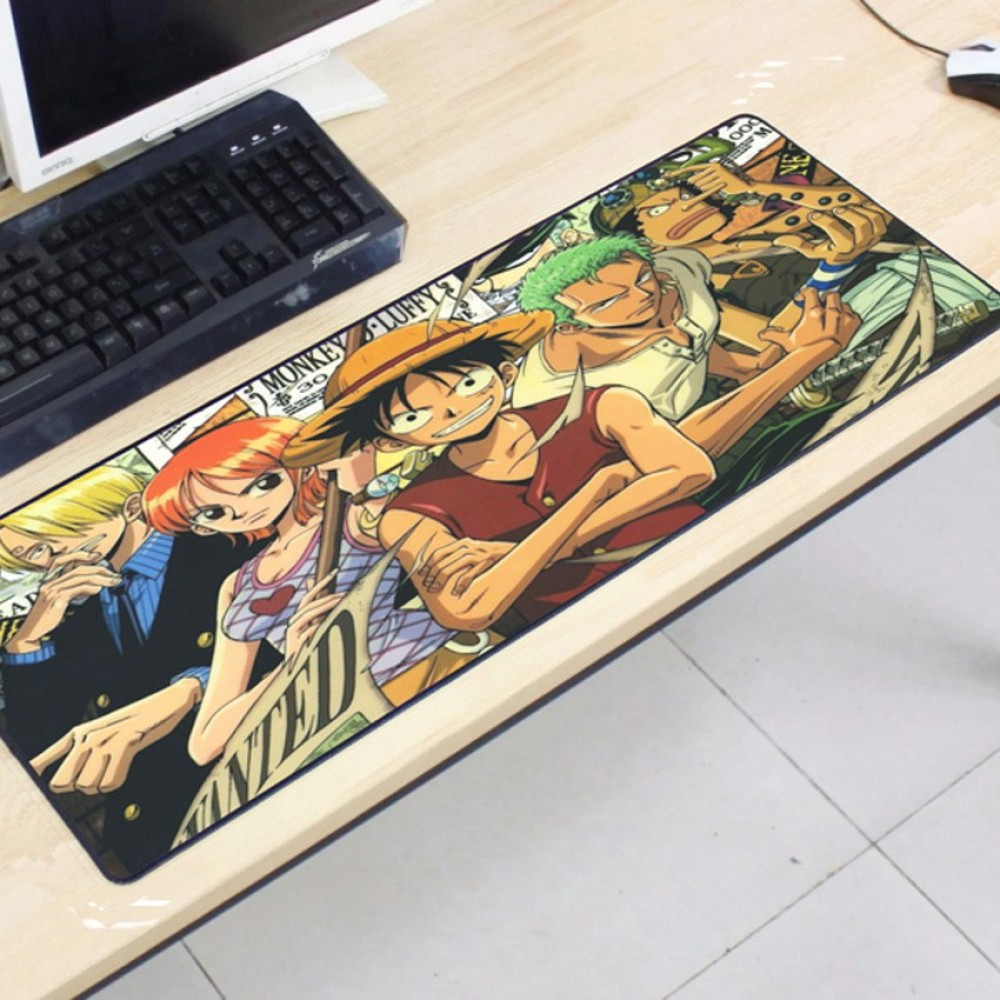 One Piece OP27 80 x 30 x 0.2cm Gaming Mat Non-slip Anti Fray Stitching Mouse Pad
