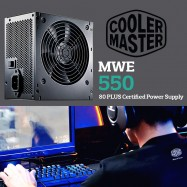 image of Official Cooler Master MWE550 Reliable and Energy Efficient 550Watt Power Supply