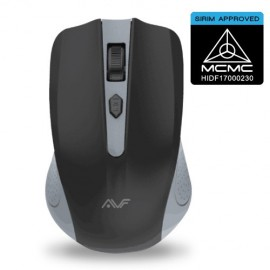 image of Official AVF GEOM3 AM-5G-GR (GREY) 2.4G WIRELESS MOUSE. - BATTERIES INCLUDED!