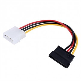 image of 15 Pin SATA Female to Molex IDE 4 Pin Male Adapter Extension Power Supply Cable