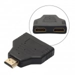 Gold HDMI Male to Dual HDMI Twin Female Y Splitter Adapter For HD TV (T12-10)