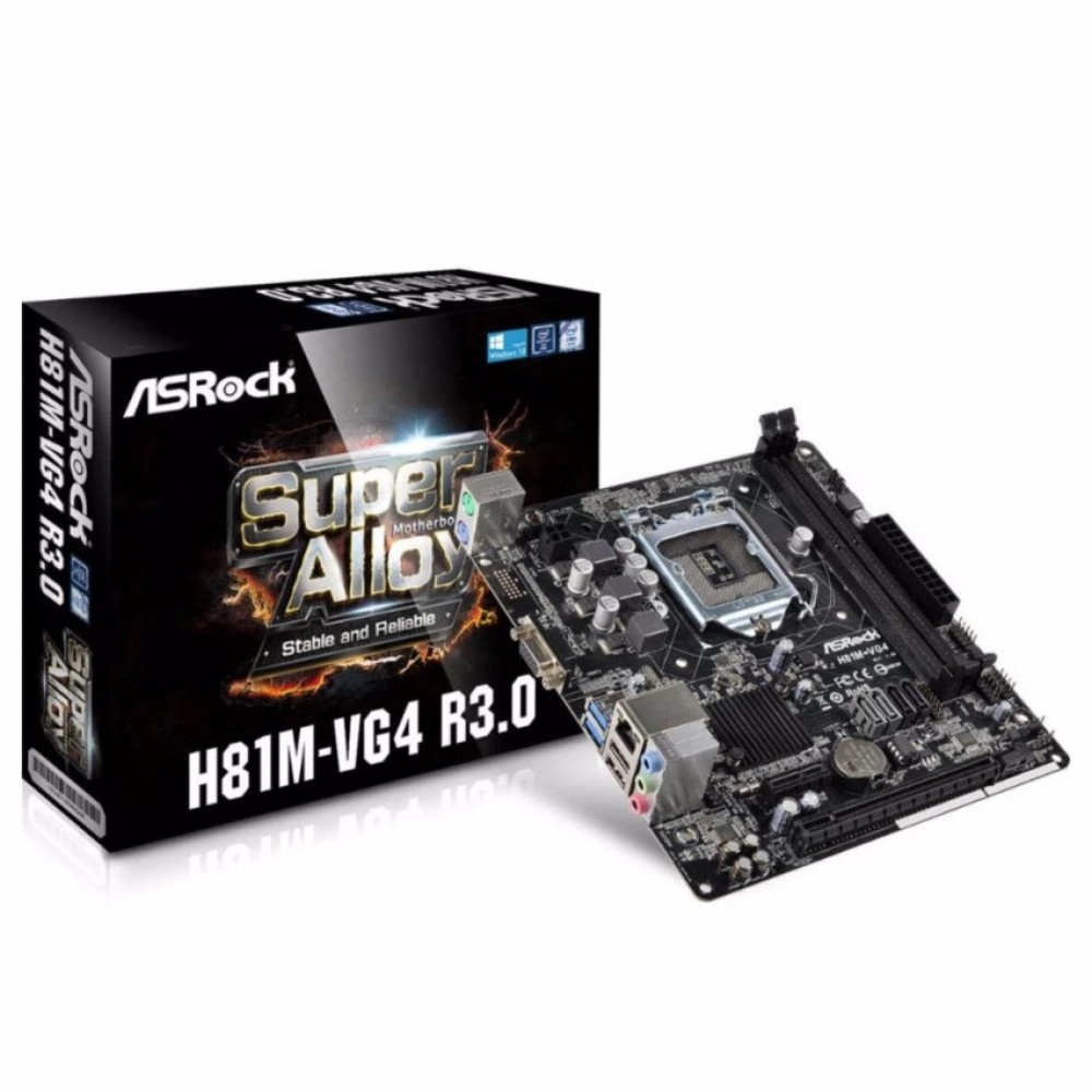 Asrock H81M-VG4 R3.0 Usb3.0 Support Socket 1150
