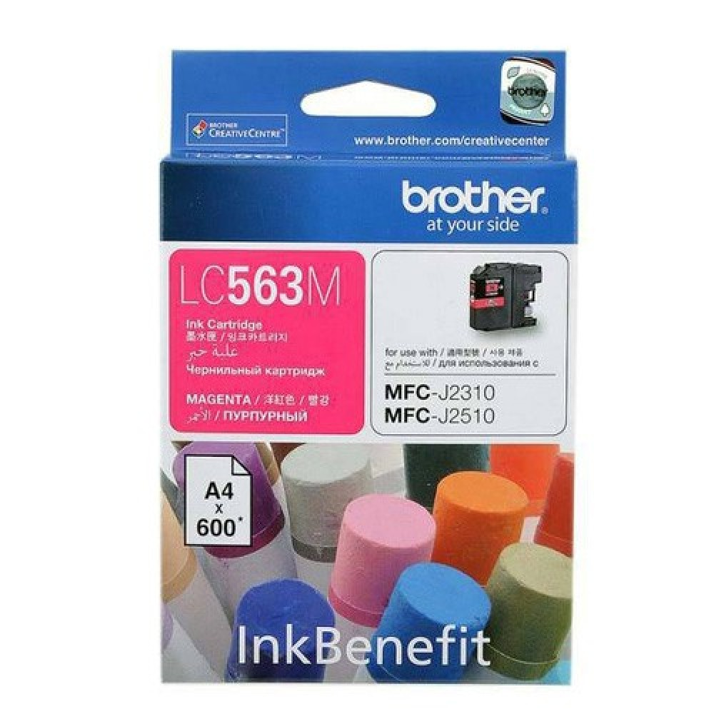 Original Brother LC-563M Magenta Ink Cartridge