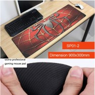 image of SP01 -2-1 Spider-Man Gaming Mat Non-slip Anti Fray Stitching Beautiful Mouse Pad
