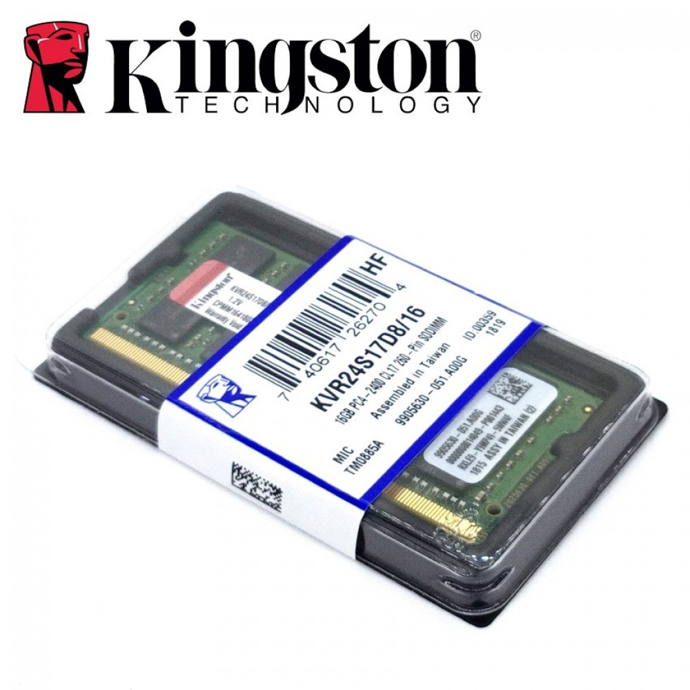 Official Kingston KVR24S17D8/16 16GB DDR4 2400Mhz Laptop Memory Ram (T12-12-7)