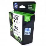 Official HP 680 Twin Pack Black+Black Ink Advantage Cartridges