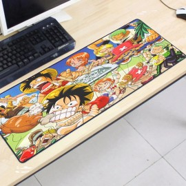 image of One Piece OP39 80 x 30 x 0.2cm Gaming Mat Non-slip Anti Fray Stitching Mouse Pad