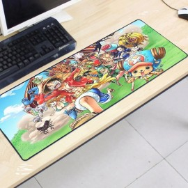 image of One Piece OP53 80 x 30 x 0.2cm Gaming Mat Non-slip Anti Fray Stitching Mouse Pad