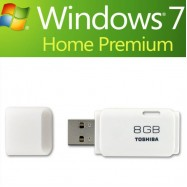 image of Bootable USB 8GB USB Flash Drive With Windows 7 Sp1 Home Premium