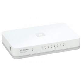 image of Official D-LINK 8 Port 10/100/1000Mbps Gigabit Desktop Switch DGS-1008A