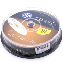 image of 10Pcs Official HP CD-RW 700MB 80Min 4~12X With Box