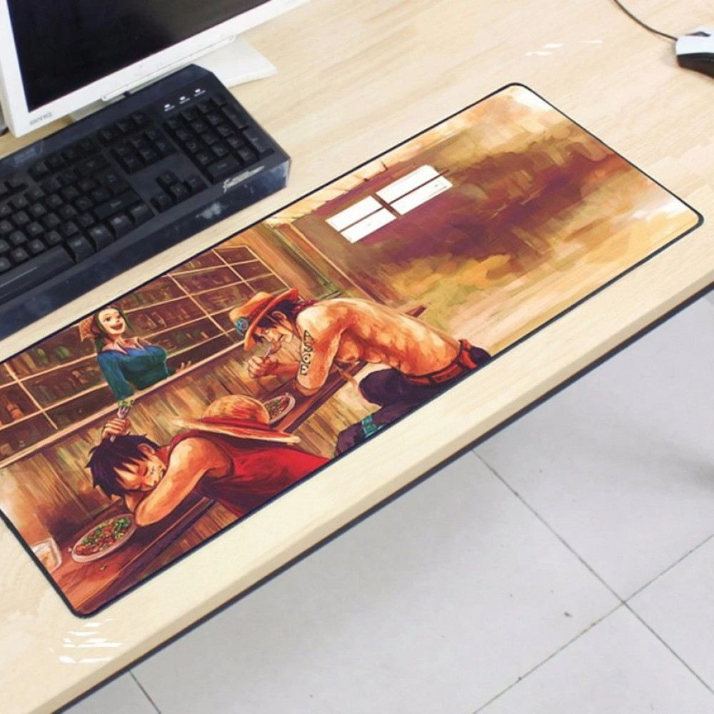 One Piece OP50 80 x 30 x 0.2cm Gaming Mat Non-slip Anti Fray Stitching Mouse Pad