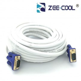 image of Official Zee-Cool 25M 15 Pin Male To Male VGA Monitor Connection Cable