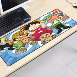 image of One Piece OP37 80 x 30 x 0.2cm Gaming Mat Non-slip Anti Fray Stitching Mouse Pad