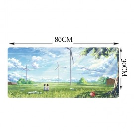 image of 90 x 40 x 0.2cm B02 Gaming Mat Non-slip Anti Fray Stitching Beautiful Mouse Pad
