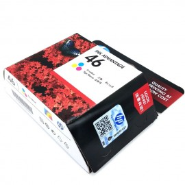 image of Official HP 46 Tri-Color Ink Cartridge (CZ638AA)