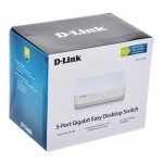 Official D-LINK 5 Port 10/100/1000Mbps Gigabit Desktop Switch DGS-1005A